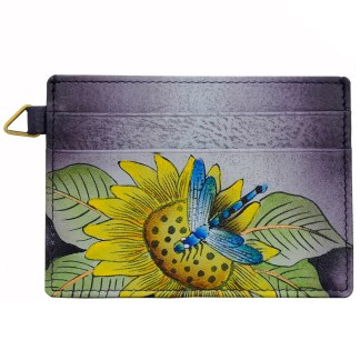 Anna by Anuschka Leather Slim Credit Case Wallet -  Tuscan Paradise