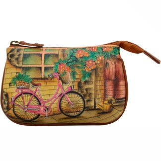Anuschka Leather Ladies Coin Pouch Meedium Vintage Bike