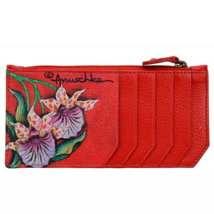 Anuschka RFID Credit Card Coin Wallet Genuine Handpainted Leather Cockatoo Sunrise [CLONE]