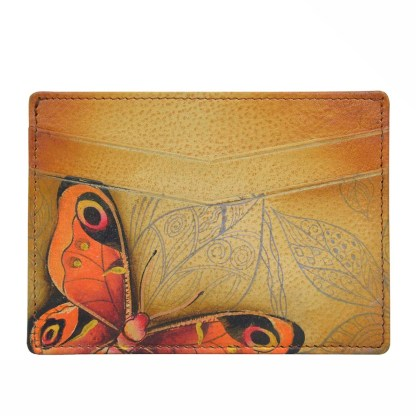 Anuschka Leather Credit Card Case Earth Song
