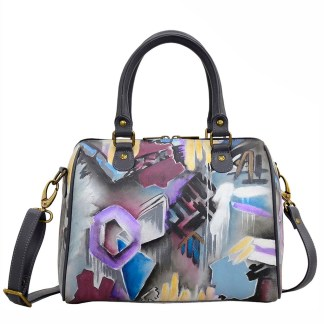 Anuschka Leather Zip Around Classic Satchel Urban Jungle