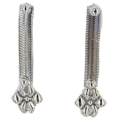 SG Liquid Metal Snake Chain Earrings - by Sergio Gutierrez