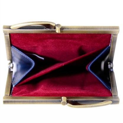 Anuschka Leather Ladies Double Eyeglass Case Moonlit Meadow