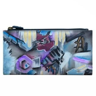 Anuschka Leather Two Fold Wallet Snap & Zip Urban Jungle
