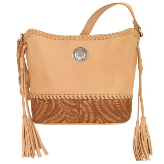 American West Leather - Shoulder Handbag Hobo  Sand - Annie's Secret - Concealed Carry [CLONE] [CLONE]