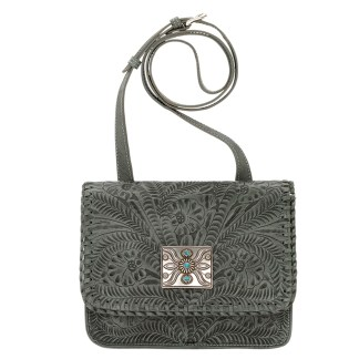 American West Leather - Cross Body Handbag -  Grand Prarie, Turquoise
