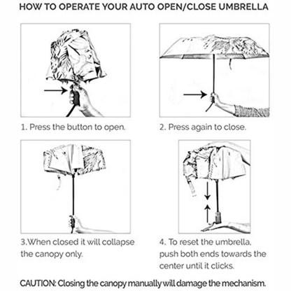 "Anuschka Art Foldable Umbrella 42"" Canopy Coverage Rain or Sun UV Protection Windproof Calavers de Azucar"