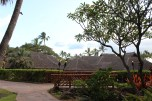 The roof of the restaurant HumuHumu, surrounded by a GIANT pool of freshwater fish.. Brian wanted to catch 'em