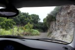 the view from the car. Some turns are pretty scary!