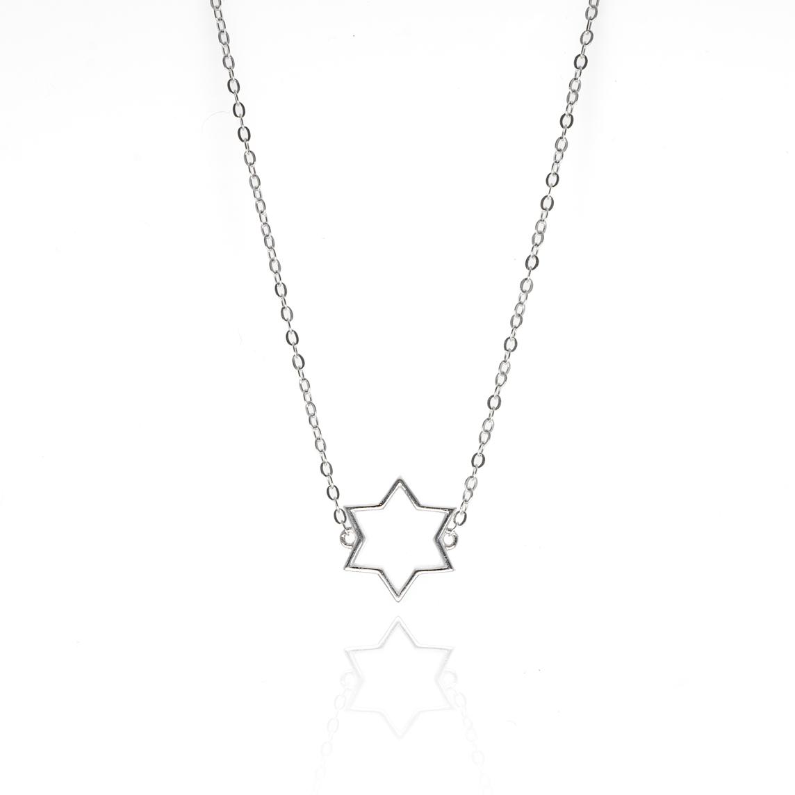 Collar Plata Silueta Estrella