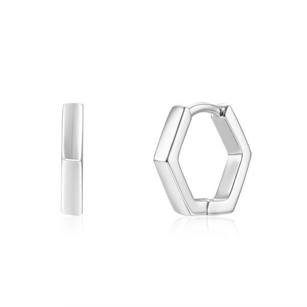Pendiente Aro Hexagonal