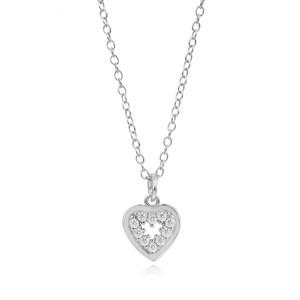 Collar Corazón Circonita Plata
