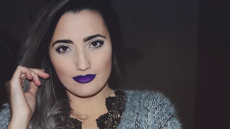 Purple fantasy ¿Te atreves con este look de noche?