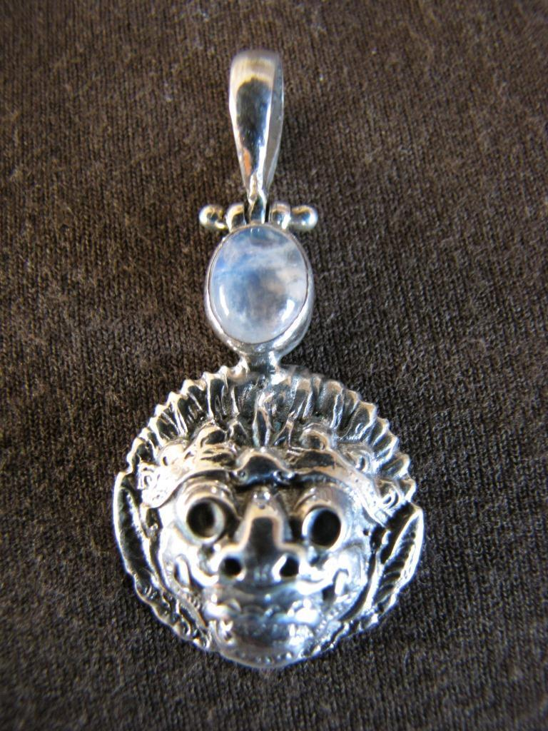 Silver Gemstone Barong Lion Pendant Silver Jewellery Sales