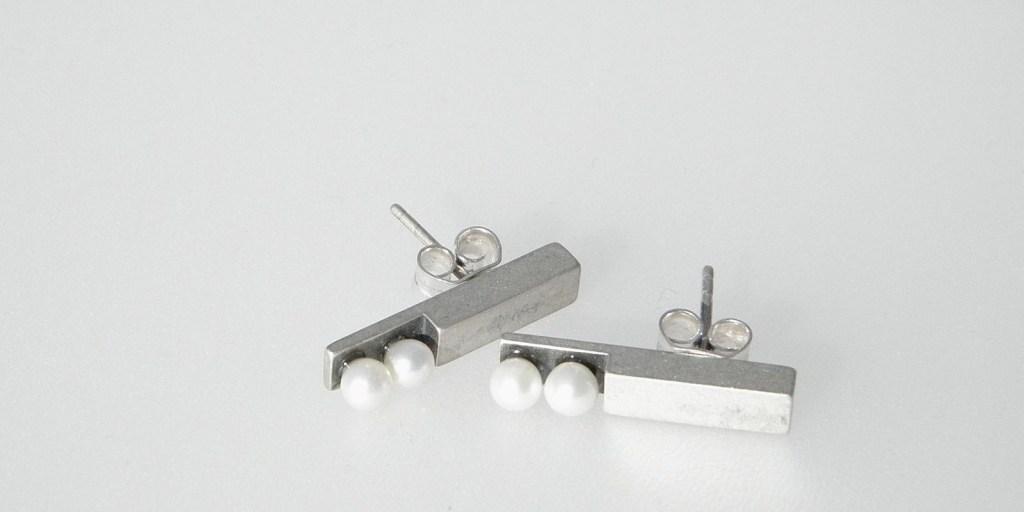 156 - Double Pearl Earrings