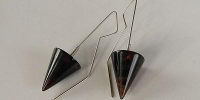 825 - Cone Amber Earrings