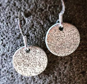 Brushed Silver earrings by Silverkupe-emt
