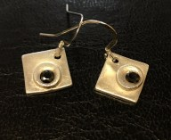 Black -Fine Silver Earrings with black cubic zirconia stone. £18 + post and packaging