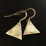 Triangles -Geometric fine silver earrings. £18 + post and packaging