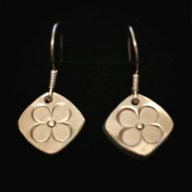 ma petite fleur - fine silver earrings £25 + post and packing