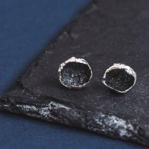 Silverkupe Black Stud Earrings