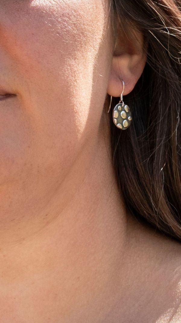 Silverkupe Black Dotty Earrings