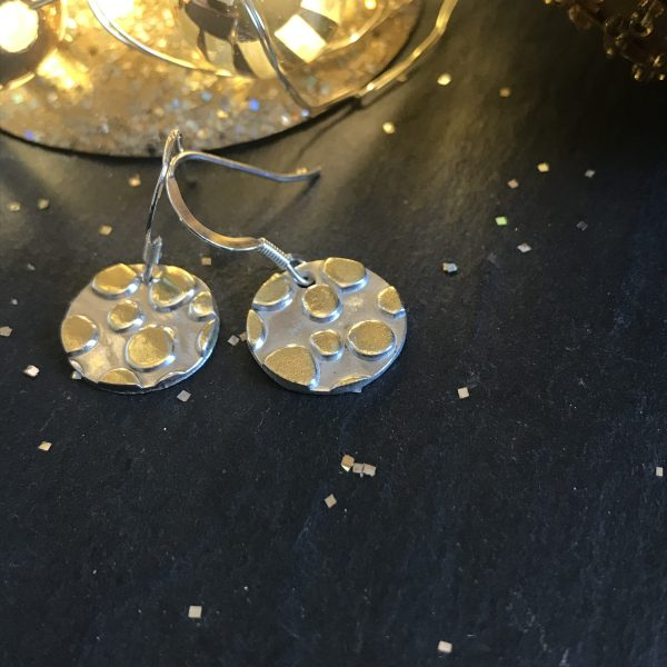 Silverkupe Golden Dotty Earrings