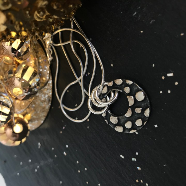 Silverkupe Black Dotty Pendant