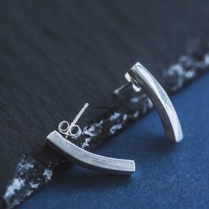 Sterling Silver minimalist bar earrings