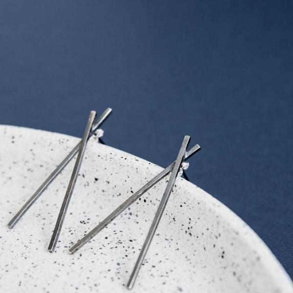 Silverkupe Mikado Earrings -Black