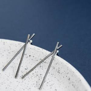 Silverkupe Mikado Earrings -Black