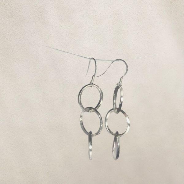 Silverkupe Triple Hoop Earrings