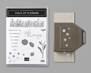 Field of Flowers Stamp Set and Confetti Flowers Border Punch Bundle