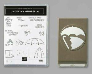 Under My Umbrella Bundle – stamp set and punch