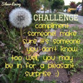 https://silverliningcommunity.wordpress.com/2016/02/08/challenge-complimenting-someone/