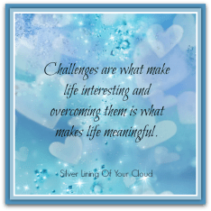 """Challenges are what make life interesting and overcoming them is what makes life meaningful."" – Joshua J. Marine"