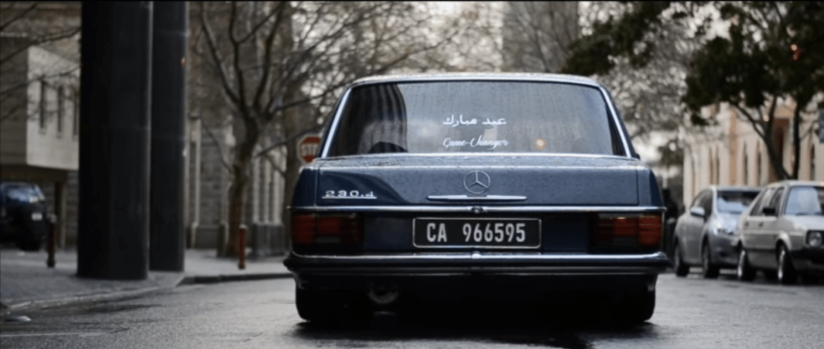 A Rainy Day with the Bagged W115 Mercedes Benz