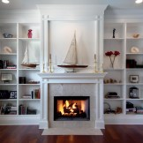 leona built in shelves with fireplace remodel