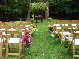 aisle flowers and chuppah