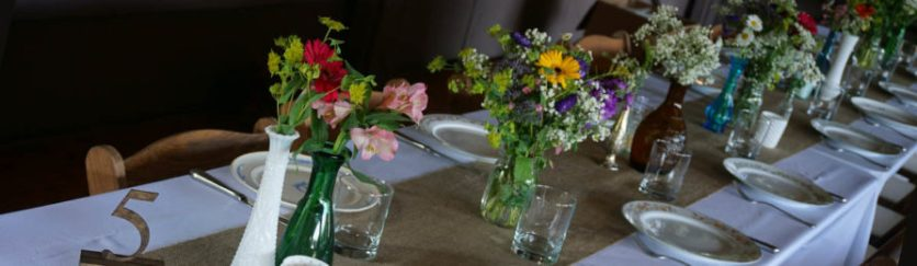 mixed table bouquets