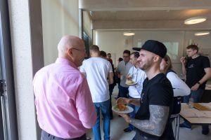 Torsten Semmler und Daniel Hauber in der Pause auf dem Babba Business Day 2019 in Großostheim