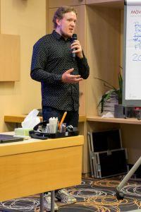James Neville-Taylor als Sprecher auf dem Builderall Everest 2018 in Nürnberg (Germany)