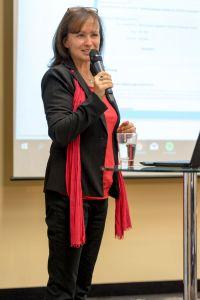 Monika Pavona als Sprecher auf dem Builderall Everest 2018 in Nürnberg (Germany)