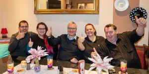MACH.BAR Treffen in München am 28.11.2019 mit Mic Mehler, Svend Krumnacker, Claudi Buhl, Frank Meyer und einem Gast.
