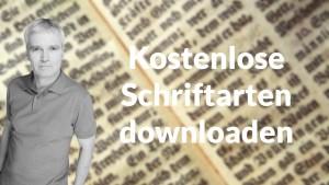 Kostenlose Schriftarten downloaden