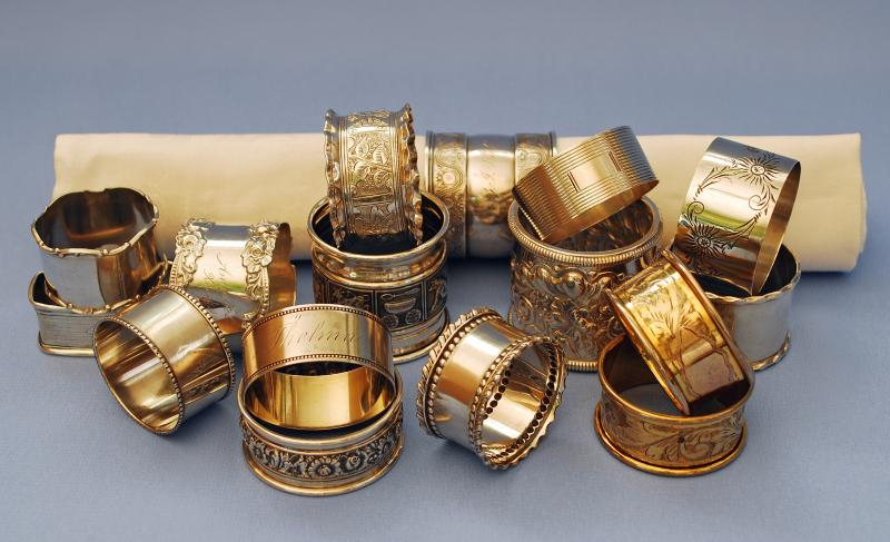 Silver Quill Antiques And Gifts Antique Silver Napkin Rings