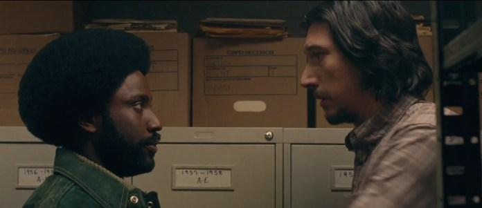 Adam Driver and John David Washington in BlacKkKlansman (Focus Features)