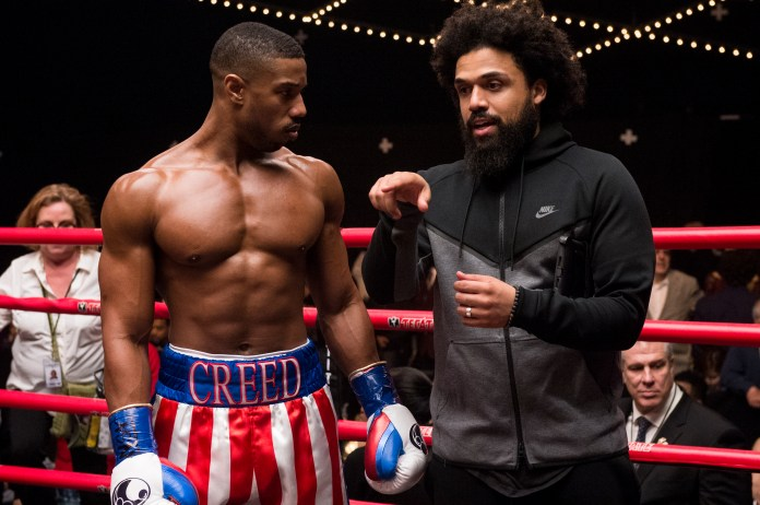 Actor Michael B. Jordan and director Steven Caple Jr. on the set of CREED II, a Metro Goldwyn Mayer Pictures film. Credit: Barry Wetcher / Metro Goldwyn Mayer Pictures © 2018 Metro-Goldwyn-Mayer Pictures Inc. All Rights Reserved.