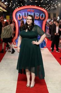"Sharon Rooney attends the European Premiere of Disney's ""Dumbo"" on February 27, 2019 in London, UK"