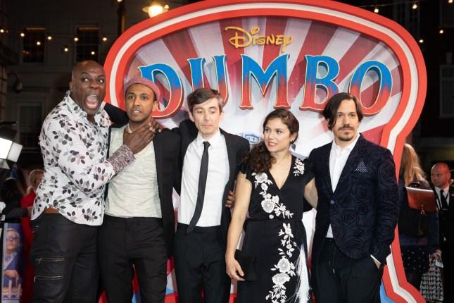 Deobia Parei, Ragevan Vasan, Frank Bourke, Zenaida Alcade and Miguel Munoz Segura attend the European Premiere of Disney's ÒDumboÓ on February 27, 2019 in London, UK